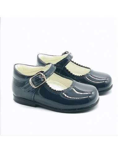 MARY JANES IN PATENT BAMBI 4199 NAVY
