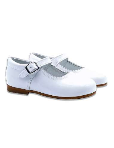 MARY JANES IN PATENT BAMBI 4199 WHITE