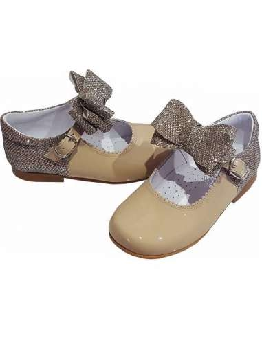MARY JANES IN PATENT AND GLITTER WITH...