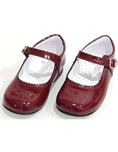 MARY JANES IN PATENT BAMBI 4199 BURGUNDY