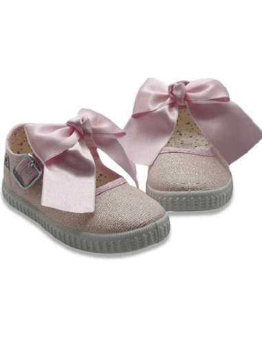 Canvas Mary Jane Javer 6220 pink with...