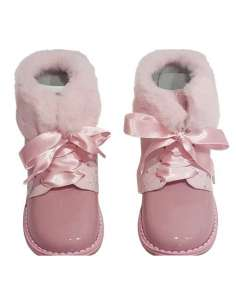 ANKLE BOOTS IN PATENT AND FUR BAMBI 5207 PINK