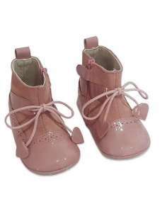 BOOTS PRAM SHOES IN LEATHER GIOVI 2491 PINK