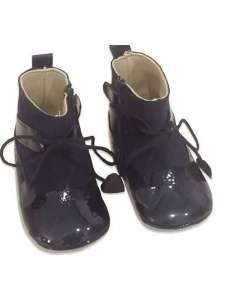 BOOTS PRAM SHOES IN LEATHER GIOVI 2491 NAVY