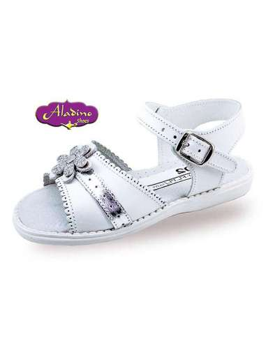 GIRLS SANDALS IN LEATHER  ALADINO...