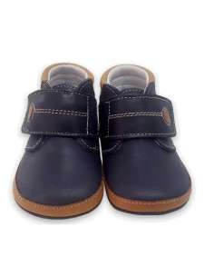 BABY BOOTS IN LEATHER 3601 NAVY