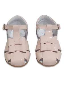 GIRLS SANDALS IN PATENT WITH DOUBLE BOW BAMBI 5217 PINK