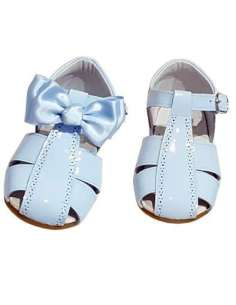 GIRLS SANDALS IN PATENT WITH BOW BAMBI 4985 SKY BLUE