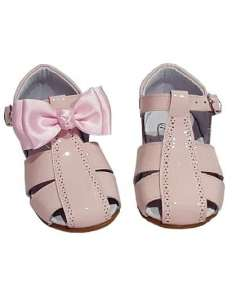GIRLS SANDALS IN PATENT WITH BOW BAMBI 4985 PINK