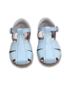 SANDALS IN PATENT BAMBI 4985 BLUE