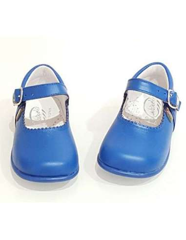 Baby Mary Janes in leather Bambi...