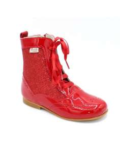 Glitter boots Bambi red 4956