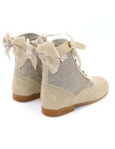 Rose glitter boots Bambi camel 4956