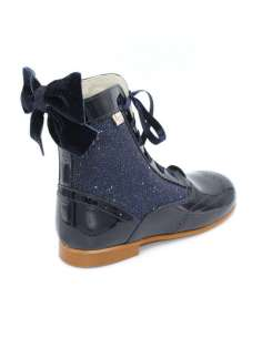 Rose glitter boots Bambi navy 4956