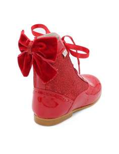 Rose glitter boots Bambi red 4956
