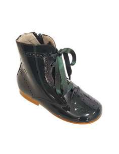 Patent boots Bambi green 4253