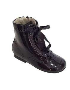 Patent boots Bambi black 4253