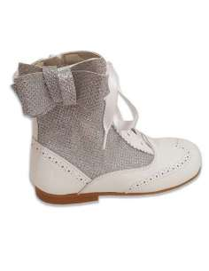 Glitter boots Bambi side white 4956