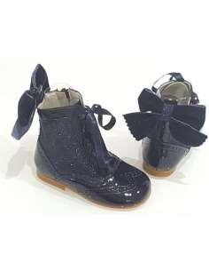 Rose glitter boots Bambi...