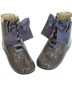PATENT LEATHER BOOTS WITH...