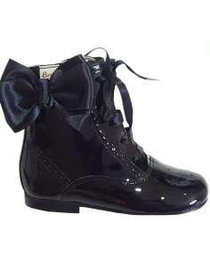 Patent boots with butterfly...