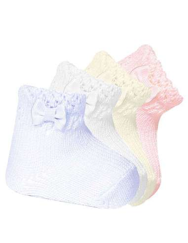 BABY SHORT SOCKS WITH OPENWORKED CUFF...