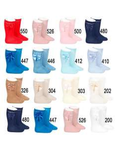 PERLE KNEE HIGH SOCKS WITH BOW CONDOR 25512