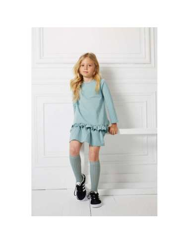 WIDE RIBBED COTTON KNEE-HIGH SOCKS...