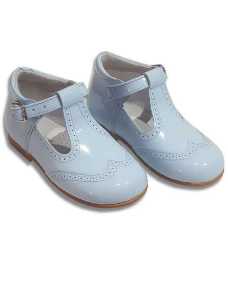 T-Bars in patent leather Cocoboxi shoes 6271 baby blue