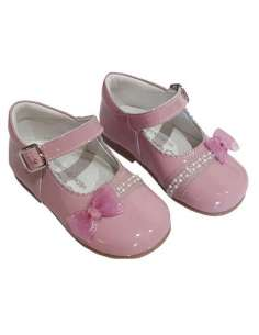 MARY JANES WITH BOW AND BUCKLE BAMBI 5146 PINK