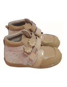 ANKLE BOOTS FOR GIRLS IN LEATHER BAMBI 5174 CAMEL
