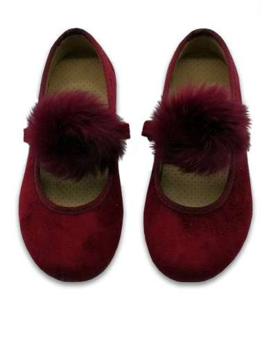 Suede Mary Janes with rubber sole...